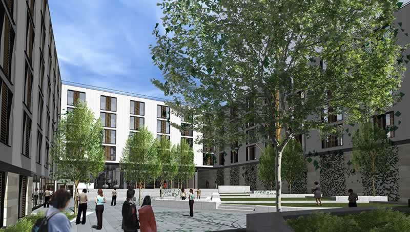 st leonards residences edinburgh court yard preview