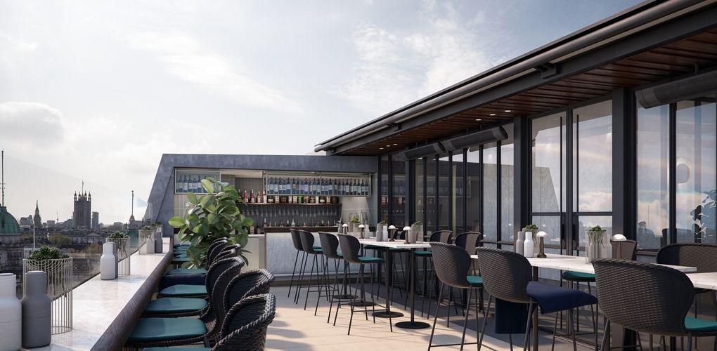 trafalgar hotel rooftop bar