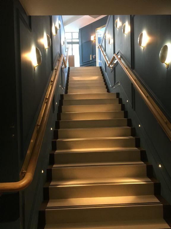 trafalgar st james - stair lights.JPG